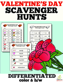 Valentine's Day Literacy Center: Valentine's Day Scavenger Hunt