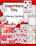 Valentine's Day Literacy Centers - Sight Words / CVC / Non