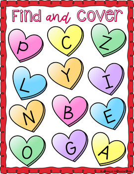 Valentine's Day Literacy Centers for Preschoolers