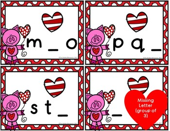 Valentine's Day Literacy File Folder Games