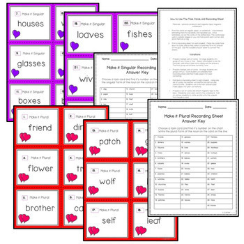 Valentine's Day Literacy Games, Activities, Crafts, Spelling, 3-Pack Bundle