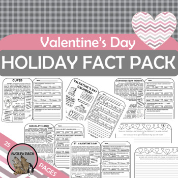 Valentine's Day Literacy Informational Text  {History, Symbols, Traditions}