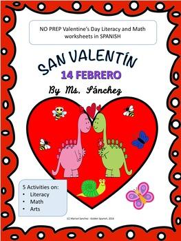 San Valentin - Valentine's Day Literacy & Math Fun in Spanish