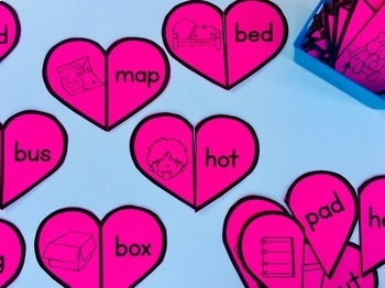 Valentine's Day Activities for Kindergarten- Math and Phonics Games