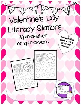 Valentine's Day Literacy Stations