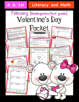 Valentine's Day Literacy and Math Pack (Common Core Aligned)