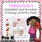 Valentine's Day Literacy and Math Tracing Prewriting Activities