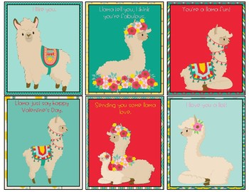 Valentine's Day Llama Cards (3 Sets)