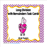 Valentine's Day Llamas Long Division Task Cards