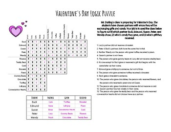 Valentines Day Logic Puzzles Worksheets & Teaching Resources