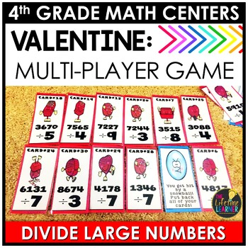 Valentine's Day Long Division Game