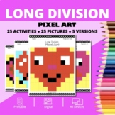 Valentine's Day: Long Division Pixel Art Mystery Pictures