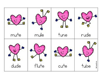 Free Valentines Day Long Vowel Silent e u-e game