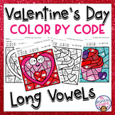 Valentine's Day Long Vowel Sounds Color By Code