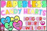 Valentine's Day Long or Short Vowel Sort
