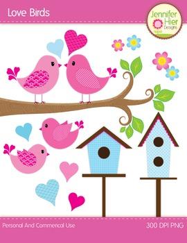 Valentine's Day Love Bird Clip Art