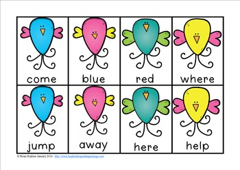 Valentine's Day Love Bird Sight Word Race