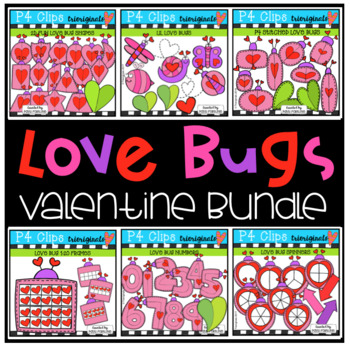 Valentine's Day Love Bug Bundle {P4 Clips Trioriginals Digital Clip Art}