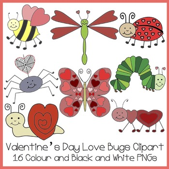 Valentine's Day Love Bug Clipart