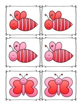 Love Bug Memory/Matching Cards