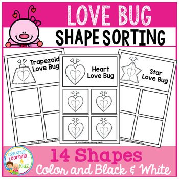 Shape Sorting Mats: Love Bug Valentine's Day
