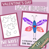 Valentine's Day Love Bugs: Color & Cut Craft w/ Demo Video!