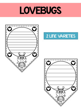 Valentine's Day Love Bugs Papers / Banner / Pennant