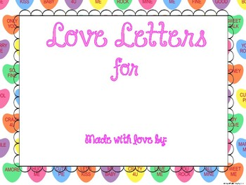Valentine's Day Love Letters Class Book