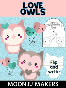 Valentine's Day Love Owls - Moonju Makers, Activity, Valentines Day, Writing