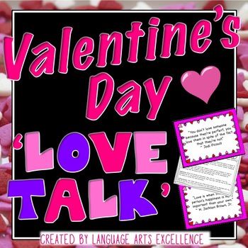 "Valentine's Day ""Love Talk"" Lesson Plan"
