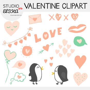 Valentine's Day & Love Clipart (Studio ELSKA)