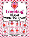 Valentine's Day Lovebug Shapes Write the Room