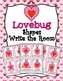 Valentine's Day Lovebug Shapes Write the Room