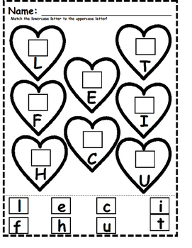 Valentine's Day Lowercase and Uppercase Matching