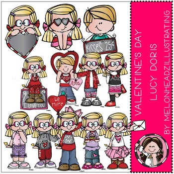 Valentine's Day clip art - Lucy Doris - COMBO PACK- by Melonheadz
