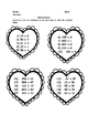 Valentine's Day MATH: Multiplication, Division, Place Value, Estimating GRADE 5