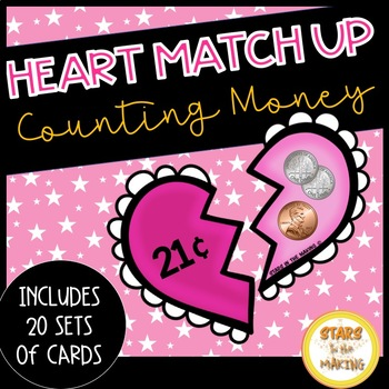 Valentine's Day MONEY Heart Matching Game (Up to $1.00) 20 sets