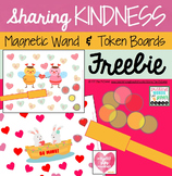Valentine's Day Magnetic Token Boards FREEBIE for Speech Therapy