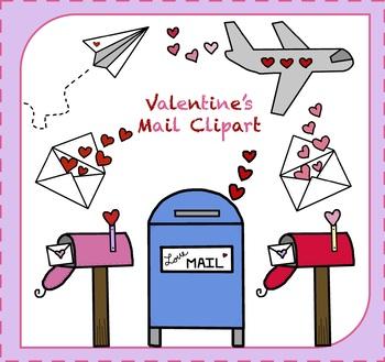 Valentine's Day Mail Clipart / Valentines Day