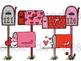 Valentine's Day Mail Digital Clip Art Set