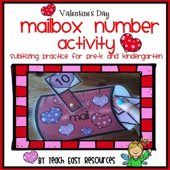 Valentine's Day Mailbox Number Activity for Pre-K - Teach Easy Resources