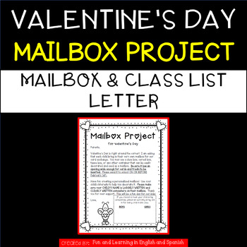 Valentine's Day - Mailbox Project & Class List Letter
