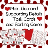 Main Idea and Details Task Cards with QR Codes and Activity Game