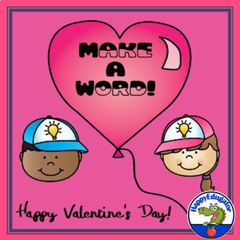 Valentine's Day Make a Word - A Valentines Day Activity