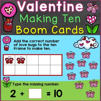 Valentine's Day Making Ten Digital Boom Cards