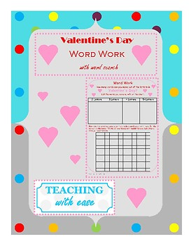Valentine's Day: Making Words and Extension Activity