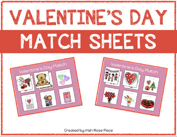 Valentine's Day Match Sheets