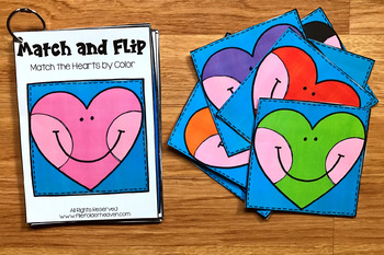 Valentine's Day Match and Flip Books