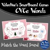 Valentine's Day Match the Long Vowel Sound Game (Smartboard/Promethean Board)