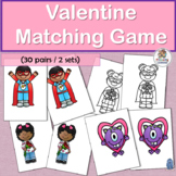 Same and Different: Valentine's Day Matching Game for Preschool and Kindergarten